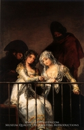 Majas on a Balcony by Francisco De Goya