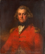 Major Thomas Pechell painting reproduction, John Hoppner
