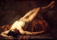 Male Nude known as Hector painting reproduction, Jacques-Louis David