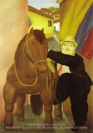 Man and Horse by Fernando Botero