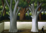 Man at the Street painting reproduction, Fernando Botero