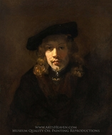 Man in a Beret painting reproduction, Rembrandt Van Rijn