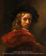 Man in a Red Cloak painting reproduction, Rembrandt Van Rijn