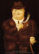 Man in a Tuxedo painting reproduction, Fernando Botero