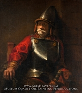 Man in Armor (Mars) painting reproduction, Rembrandt Van Rijn
