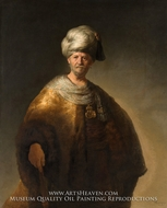 Man in Oriental Dress by Rembrandt Van Rijn