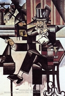 Man in the Cafe by Juan Gris