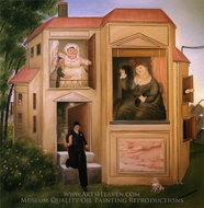 Man Who Went to the Office painting reproduction, Fernando Botero