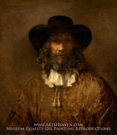 Man with a Beard by Rembrandt Van Rijn
