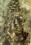 Man with a Guitar painting reproduction, Georges Braque