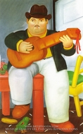 Man with a Guitar by Fernando Botero