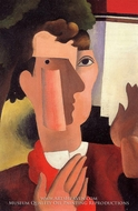 Man with a Red Kerchief by Roger De La Fresnaye