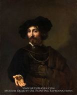 Man with a Steel Gorget by Rembrandt Van Rijn