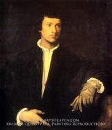Man with Gloves painting reproduction, Titian