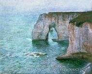 Manne-Porte, Etretat by Claude Monet