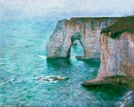 Manne-Porte, Etretat painting reproduction, Claude Monet