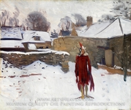 Mannikin in the Snow by John Singer Sargent