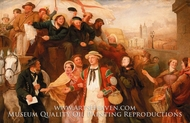 Manning the Navy painting reproduction, George Barnard O'Neill