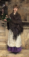 Marchande de Fleurs a Londre (Flower Seller in London) by Jules Bastien-Lepage