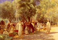 Marche En Kabylie painting reproduction, Anthonissen Louis Joseph