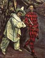 Mardi Gras painting reproduction, Paul Cezanne