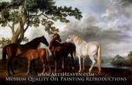 Mares and Foals in a Landscape by George Stubbs