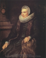 Maria Bosschaerts, Wife of Adriaen Stevens painting reproduction, Sir Anthony Van Dyck