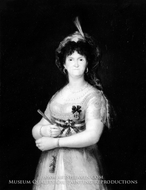 Maria Luisa of Parma, Queen of Spain painting reproduction, Francisco De Goya