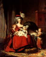 Marie Antoinette and her Four Children painting reproduction, Louise Elisabeth Vigee-Lebrun