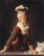 Marie-Madeleine Guimard, Dancer by Jean-Honore Fragonard