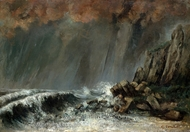 Marine: The Waterspout painting reproduction, Gustave Courbet