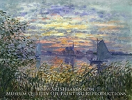 Marine View with a Sunset by Claude Monet