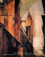 Market Church in Halle by Lyonel Feininger