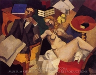 Married Life painting reproduction, Roger De La Fresnaye