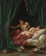 Mars and Venus, Allegory of Peace (Mars et Venus, allegorie sur la Paix) painting reproduction, Louis Jean Francois Lagrenee