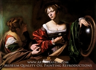 Martha and Mary Magdalene painting reproduction, Caravaggio