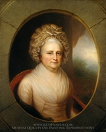 Martha Washington painting reproduction, Rembrandt Peale