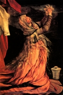 Mary Magdalene from Isenheim Altarpiece painting reproduction, Matthias Grunewald