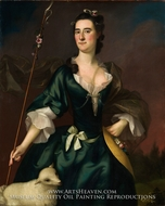Mary Sylvester painting reproduction, Joseph Blackburn