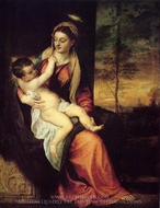 Mary with the Christ Child painting reproduction, Titian