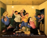 Masacre de Mejor Esquina painting reproduction, Fernando Botero