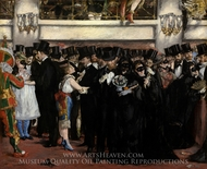 Masked Ball at the Opera painting reproduction, Edouard Manet