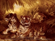 Masters of the Jungle painting reproduction, William Henry Drake