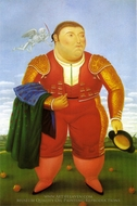 Matador painting reproduction, Fernando Botero