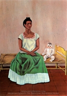 Me and My Doll painting reproduction, Frida Kahlo