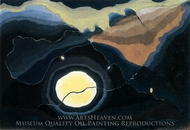 Me and the Moon painting reproduction, Arthur Dove