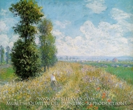 Meadow with Poplars near Argenteuil by Claude Monet