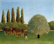 Meadowland painting reproduction, Henri Rousseau