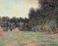 Meadows with Haystacks Near Giverny by Claude Monet