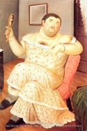 Melancholia painting reproduction, Fernando Botero
